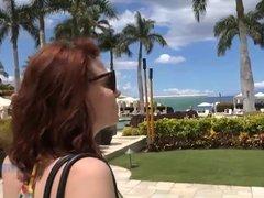 Emma Evins in Hawaiian Creampie