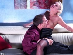 Britney gets a deep dick and load on her ass