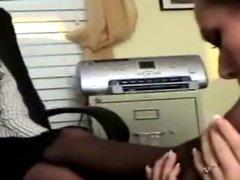 Lesbians Sucks Each Other's Sweaty Nylon Toes Clean!