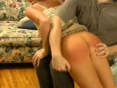 American pornstar Chelsea Zinn spanked by old man
