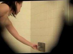 Spy shower on hairy cousin aneko