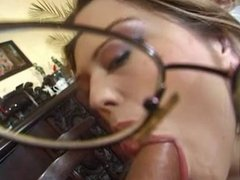 Cute MILF with glasses fucked and facialized