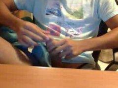 Straight guys feet on webcam #198