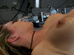 Woman has crazy orgasm from sex machine!