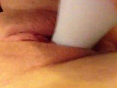 Amateur Teen Louise White Dildo Orgasm