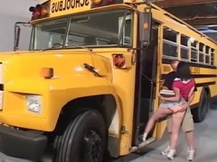 School Bus Teen Anal