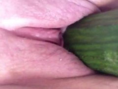 Amateur Teen Louise Cucumber Orgasm