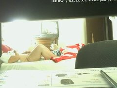 wife playing on hidden cam