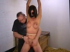 Pussy and tit spanking WF