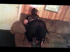 Horny Webcam Model posing in Black Transparent Leggings!!!