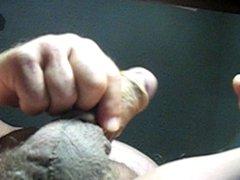 68 yrold Grandpa #20 mature penis close closeup wank uncut