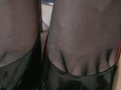 Very Hot  Pov Stockings Footjob