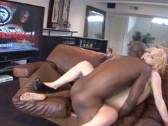 blonde fucked anal big black cock