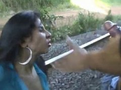 Poor Peasant Girl Getting Face Fucked Outdoors MC169