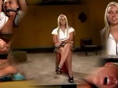 blonde punished by her mistress.
