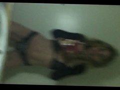 Carrie Michalka see-through dancing selfie 01