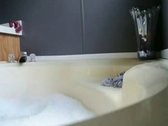 So hot amateur teen teases in bath tub