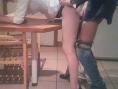 whore wife used  in my kitchen  in front of her husband