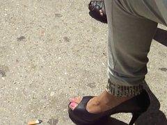Sexy Feet&Heel Bus Station