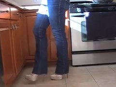 6 inch platform high heels with jeans