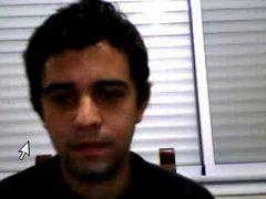 Straight guys feet on webcam #288