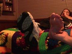 Tara barefoot tickled