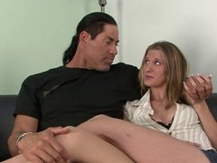 Husband watches while his wife gets pounded by black stud
