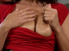 Ejaculation on nice tits