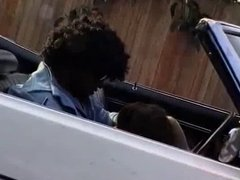 Interracial Fuck in a Open Car in Public