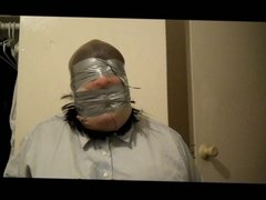 Pantyhosed and gagged