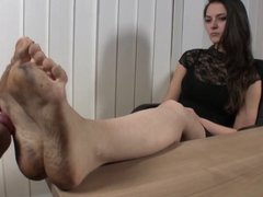 Serbian Boss dirty feet licked