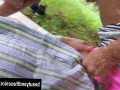 Teen Vivien 69ing an old dude in park