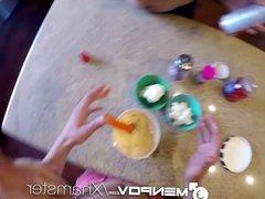 HD - MenPOV Sweet treats for three cute roommates