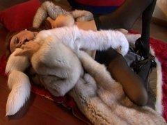 enjoying fur on the floor