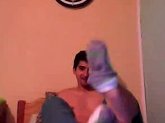 Straight guys feet on webcam #310