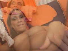 Babe Casting on Purple Couch