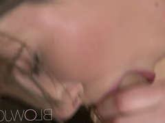 BlowJob True beauty with amazing breasts enjoys sensual head