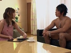 Japanese MILF get her pussy creamed good