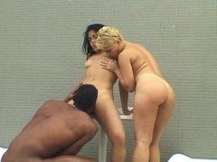 Brazilian Rooftop Threesome