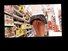 Shopping With Dildo in Ass