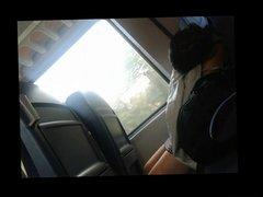upskirt teen -beauty in the train