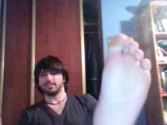 Straight guys feet on webcam #332