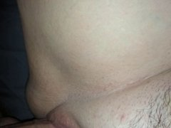 Leaving a shallow creampie in my wife