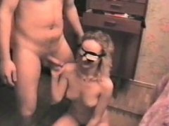 my old video blonde slut doing blowjob me and my friends
