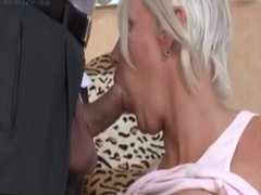 Slutty mature fucked on the couch