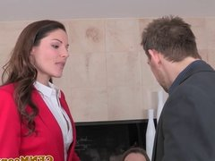 CFNM femdom Lily Love fucking for a deal