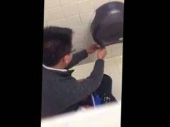 Caught jerking off in the men's room
