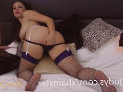 Sophia Plays With a Vibrator While Wearing Lingerie
