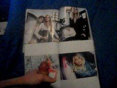 Cumshot on Elsa Hosk and Italian Elle magazine