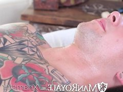 HD - ManRoyale Hardcore massage and ass pounding two hunks